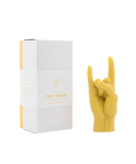 CandleHand You Rock Hand Gesture Candle - Yellow   4779040570205