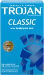 Trojan Classic Lubricated Latex Condoms 12 Count | 061700937522