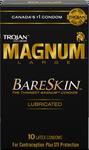 Trojan Magnum Large BareSkin Lubricated Latex Condoms 10 Count   061700912635