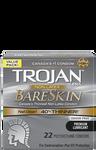 Trojan Supra Non-Latex BareSkin Lubricated Polyurethane Condoms - Odour Free - 22 Count | 061700991807