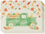 Now Designs Autumn Harvest Cork-Backed Placemats Set of 4