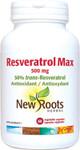 New Roots Herbal Resveratrol Max 500mg 60 Vegetable Capsules | 628747124454