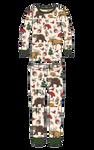 Little Blue House by Hatley Kids Pajama Set Woodland Winter | PJAWOOD001