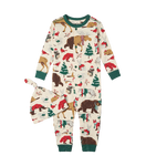 Little Blue House by Hatley Baby Coverall with Hat - Woodland Winter   DR2WOOD001