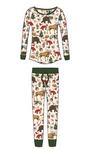 Little Blue House by Hatley Women's Jersey Pajama Set - Woodland Winter | PJBWOOD001
