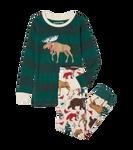 Little Blue House by Hatley Kids Appliqué Pajama Set - Woodland Winter   PJCLAND001