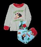 Copy of Little Blue House by Hatley Kids Appliqué Pajama Set - Wild About Christmas   PJCWILD004