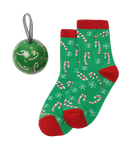 Little Blue House by Hatley Kids Socks in Ball - Candy Canes | BA8CANE002