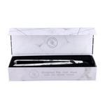 "Relaxus White Marble Digital Ceramic 1"" Hair Straightener 