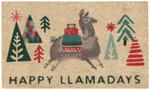 Now Designs Happy Llamadays Doormat | 064180293010