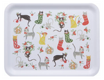 Now Designs Meowy Christmas Rectangle 14 Inch Tray | 064180295908