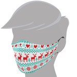 Brave Face Holiday Organic Reusable Adult Face Masks - Ugly Sweater Reindeer | 705333599190