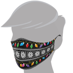 Brave Face Holiday Organic Reusable Adult Face Masks - Ugly Sweater Lights | 705333599183