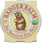 Badger Balm Certified Organic Unscented for Sensitive Dry Skin 56g   634084330335