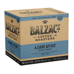 Balzac's Coffee Roasters A Dark Affair Coffee Pods - Stout Roast Smoky-Spicy 18 Count | 628614001871
