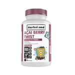 Herbaland Acai Berry Twist Gummies for Adults - Blueberry Flavour (Sugar-Free) 90 Gummies | 813523001320