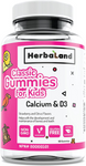 Herbaland Classic Gummies for Kids Calcium & D3 - Strawberry & Citrus Flavours 60 Gummies | 813523000545