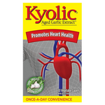 Kyolic Aged Garlic Extract Once-A-Day 600mg - Promotes Heart Health 30 Vegetable Caplets | 772570391603