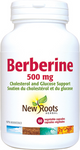 New Roots Herbal Berberine 500mg - Cholesterol and Glucose Support 60 Vegetable Capsules | 628747124836