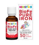 KidStar Nutrients BioFe Pure Iron Drops - Unflavoured 30mL | 371316000009