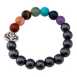 Relaxus Magnetic Chakra Wellness Bracelet Lotus | SKU: REL- 504729 | UPC: 628949047292