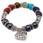 Relaxus Magnetic Chakra Wellness Bracelet Heart  | SKU: REL- 504718