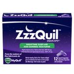 ZZZQuil Nighttime Liquidcaps Sleep-Aid 12 Liquid Capsules | 056100075059