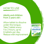 Boiron RhinAllergy Allergy Relief - 60 Quick-Dissolving Tablets | 774016833142 | Usage