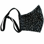 Ortho Active Reusable 3-Layer Mask Small Size (for Kids) - 1-Pack - Music Notes   623417954904
