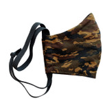 Ortho Active Reusable 3-Layer Face Mask for Kids - 2-Pack | Brown Camo