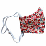Ortho Active Reusable 3-Layer Face Mask for Kids - 2-Pack | Strawberry Flowers