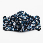 Ortho Active Reusable 3-Layer Face Mask for Kids - 2-Pack | Blue Camo
