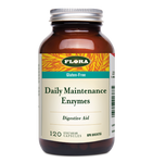 Flora Health Gluten-Free Daily Maintenance Enzymes 120 Vegetarian Capsules   061998013847