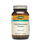 Flora Health Gluten-Free Daily Maintenance Enzymes 60 Vegetarian Capsules  061998013779