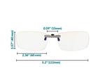 Spektrum Glasses Prospek Anti-Blue Light Clip-on Glasses - Pro   628055559382   12564300-1