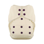Thirsties Natural One Size Fitted Snap Diaper Plum 8 to 40 lbs | 816905029929