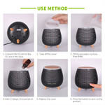 Lasting Naturals Wood Aromatherapy Diffuser  - Black | Instructions