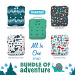 Thirsties One Size All In One Snap Diaper Package - Bundle of Adventure   840015710996