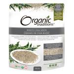 Organic Traditions White Chia Seeds 454 grams   627733006156
