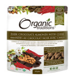 Organic Traditions Dark Chocolate Covered Almonds with Chili 227g   627733007078