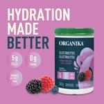 Organika Electrolytes + Enhanced Collagen - Wild Berry 360g - Features