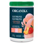 Organika Electrolytes + Enhanced Collagen - Juicy Strawberry Peach 360g | 620365031022