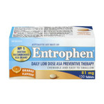 Entrophen Daily Low Dose 81mg ASA Preventative Therapy Orange Flavour Tablets | 0625972011290
