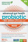 Genuine Health Advanced Gut Health Probiotic Mood 30 Vegan Capsules  624777010989
