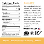 Sprout Living Epic Protein Organic Plant Protein + Superfoods 16 x 32g Pouches - Vanilla Lucuma Nutrition Facts | 852457007176