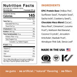 Sprout Living Epic Protein Organic Plant Protein + Superfoods 16 x 32g Pouches - Chocolate Maca Nutrition Facts | 852457007169