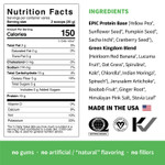 Sprout Living Epic Protein Organic Plant Protein + Superfoods 16 x 32g Pouches - Green Kingdom Nutrition Facts | 852457007183