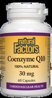 Natural Factors Coenzyme Q10 30mg Capsules