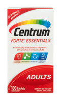 Centrum Forte Essentials Adults Complete Multivitamins and Supplement Tablets