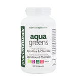 Prairie Naturals Aqua Greens Spirulina & Chlorella Capsules 360 Veg Cap